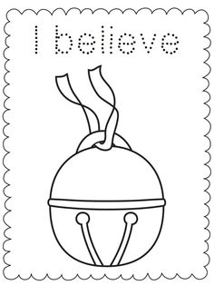 i believe bell polar express coloring sheet