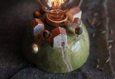 Ceramic Light, Christmas Bulbs, Ceramics, Holiday Decor, Home Decor, Ceramica, Pottery, Decoration Home, Christmas Light Bulbs