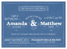 wedding invitations - Blueprint by Sarah Brown