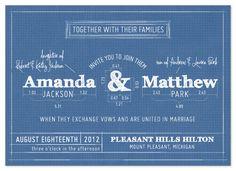 wedding invitations - Blueprint by Sarah Brown