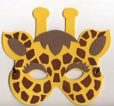 Animal Masks For Kids, Mask For Kids, African Art For Kids, Diy For Kids, Crafts For Kids, Half Birthday Cakes, Zebra Mask, Lion King Birthday, Safari Theme Party