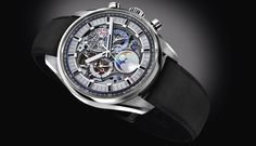 Discover the Chronomaster El Primero Grande Date Full Open, a self-winding skeleton-worked chronograph introduced by Zenith Watches at Baselworld 2017