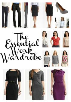 The essential work wardrobe with shopping list