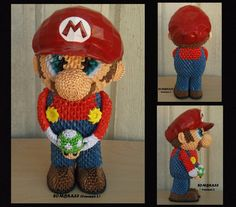 Mario Bros by sombra33 on deviantART - made from paper triangles