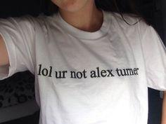 Lol ur not Alex turner white tshirt for women men top boy band famous ARCTIC MONKEYS tee on Etsy, $22.71