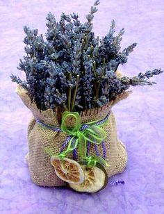 ~.Lavender in burlap sack~