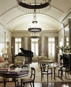 Rooms Decorated With A Baby Grand Piano