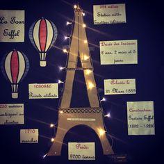 French classroom display. Eiffel Tower.