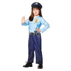 2020 Toddler's Police Officer Jumpsuit Costume and more Career Costumes for Girls, Girl's Halloween Costumes, Law Enforcement Costumes for Girls for Costumes For Sale, Halloween Costumes For Girls, Halloween Dress, Girl Costumes, Children Costumes, Police Officer Halloween Costume, Career Costumes, Toddler Halloween, Get Dressed