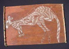 Spearchukasart - Aboriginal Bark Painting - Kangaroo