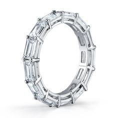 Baguette Diamond Shared Prong Eternity Band
