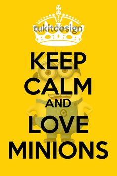 Keep Calm and Love Minions Poster
