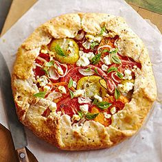 Tomato Galette - Midwest Living  http://www.midwestliving.com/recipe/tomato-galette/