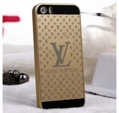 New Celebrities Style Fashion Real Louis Vuitton iPhone 6 Cases - iPhone 6 Plus Cases - LV Polished Cover Golden - Free Shipping - Chanel & Louis Vuitton Authorized Store