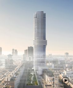 V8 architects plans to build a 150 meter high residential tower in the netherlands