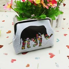 Excellent Quality Women Coin Change Purse Elephant Printing, Lady Purse, Leather Coin Wallet,Female Money Change Bag Wallet Gift #women, #men, #hats, #watches, #belts