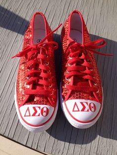 Delta Sigma Theta Sequin Sneakers