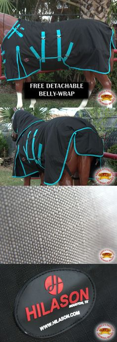 Horse Blankets and Sheets 85275: 75 Hilason 1200D Waterproof Horse Winter Blanket Belly Wrap Black Turquoise -> BUY IT NOW ONLY: $75.95 on eBay!