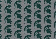 Michigan State Spartans Logo Repeat Rug in Michigan State Spartans from ACWG
