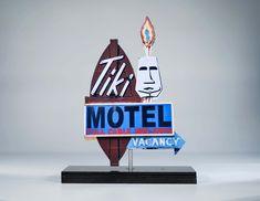 Tiki Motel neon sign photo / tiki art / motel sign / by neonmemory Fine Art Photo, Photo Art, 50s Decor, Photo Cutout, Vintage Neon Signs, Tiki Art, Desert Art, Polynesian Culture, Mid Century Art
