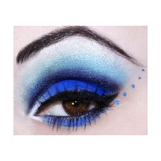 Blue Makeup for Brown Eyes ❤ liked on Polyvore featuring makeup, eyes, eye makeup, beauty and eyeshadow