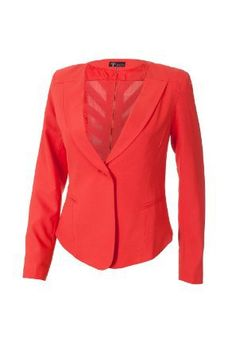 9XIS Womens Trendy Blazer With Back Zipper