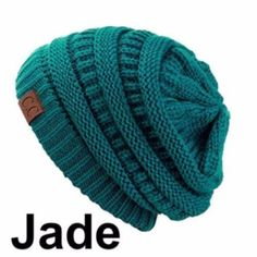 c18e22f4441 CC Knit Slouchy Baggy Beanie Winter Hat Ski Slouchy Cap Skull Unisex  Absolutely Beautiful and Stylish