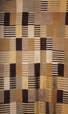 triple-weave wall hanging by anni albers c. 1926 from 'women's work: textile art from the bauhaus'