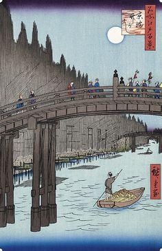 京橋竹がし|歌川広重|名所江戸百景|浮世絵のアダチ版画オンラインストア