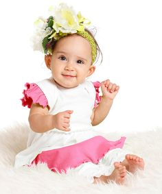 This White Leah Dress & Leggings - Infant & Toddler by Wonderland by Kidcuteture is perfect! #zulilyfinds