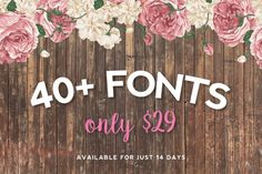 For just $29 you will get over 40 premium fonts designed by some of the best graphic designers and illustrators in the world. All fonts included can be be used for both personal and commercial use. For more information regarding the license included within this bundle, please visit the bottom of this page.