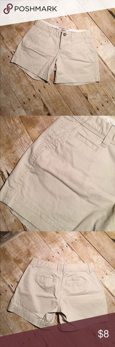 Old Navy Favorite Khakis Khaki color. 5 inch inseam. 14 inch waist. Size 0. Old Navy Shorts