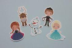 Tag personagens tema Frozen da Disney. -(30un.) - cenarium.arte@hotmail.com