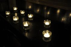 Tea lights at Gosfield Hall