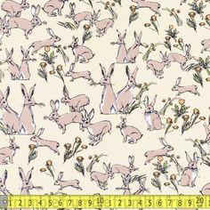 Rabbit & Hare Yellow - Fabric