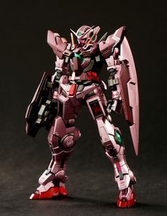 GUNDAM GUY: RG 1/144 00 Raiser + 00 Qan[T] + Gundam Exia Trans Am Mode - Painted Build