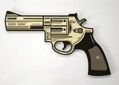 gun woodcut