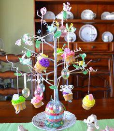 This is a cupcake tree created by Trish from Sweetology -- so cute!!