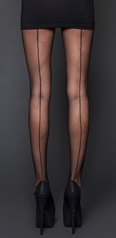 Style #26-037blk: Fishnet Pantyhose With Back Seam lipservice cult