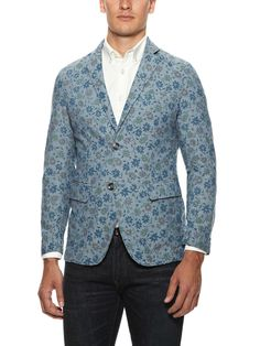 Floral Print Unconstructed Blazer by Barque. Dr. Lecter should try different suit designs. :) @Hannibal  #Hannibal