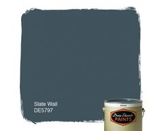 Dunn-Edwards Paints blue paint color: Slate Wall DE5797 | Click for a free color sample #DunnEdwards