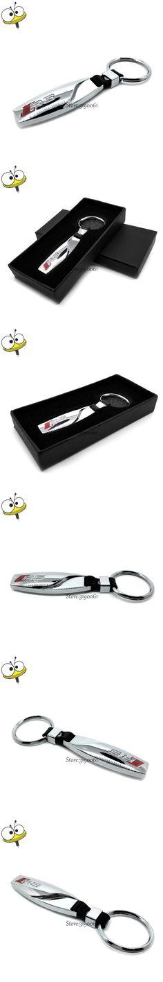 Fashion Car Styling Car Keychain Metal Key Rings For Audi RS Logo A1 A3 A4 A4L A5 A6 A6L A7 S3 S5 S7 Q3 Q5 Q7 TT RS3 RS4 RS5 RS6