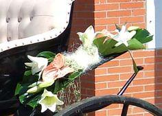 Decoración de calesas para bodas www.floresdelduero.com