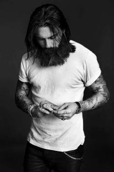 Hair and beard - Pin by Corb Motorcycles
