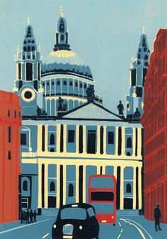 London Drawing, City Drawing, Image Of The Day, Architectural Features, London Art, Linocut Prints, Urban Landscape, Urban Art, Travel Posters