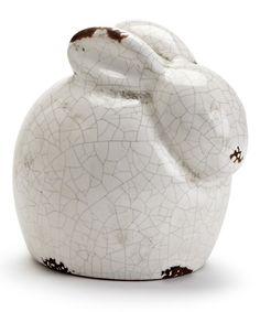 This White Crouching Rabbit Figurine by Abbott is perfect! #zulilyfinds