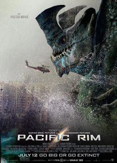 Guillermo del Toro) is muuuuuch better than this year's Godzilla. Pacific Rim Movie, Pacific Rim Kaiju, Pacific Rim Jaeger, King Kong, Godzilla, Cult Movies, Horror Movies, Arte Alien, Charlie Day