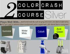 """Color Crash Course- Silver"" by flutter2499 on Polyvore"