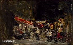 Night On Boardwalk by Robert Henri - Oil Painting Reproduction - BrushWiz.com