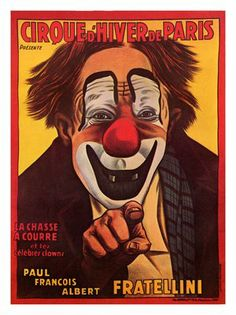 AP708 - Cirque d'Hiver, French Circus Poster 1930 (30x40cm Art Print)